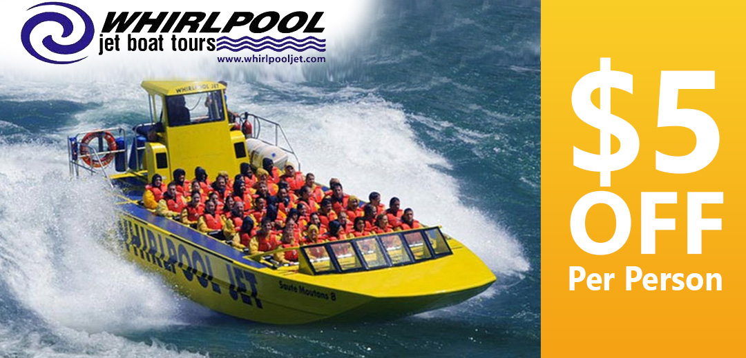 Whirlpool Jet Boat Tours 5 dollars per person discount